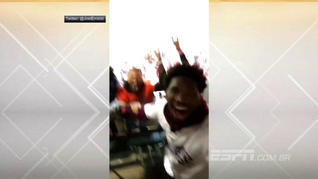 Pé frio? Embiid posta vídeo vibrando muito com os Dodgers, que acabaram derrotados pelos Astros