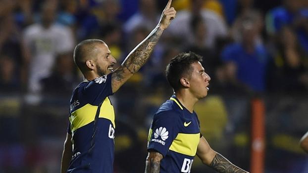 Direto da arquibancada da Bombonera, veja a reação dos torcedores do Boca após o gol de Benedetto