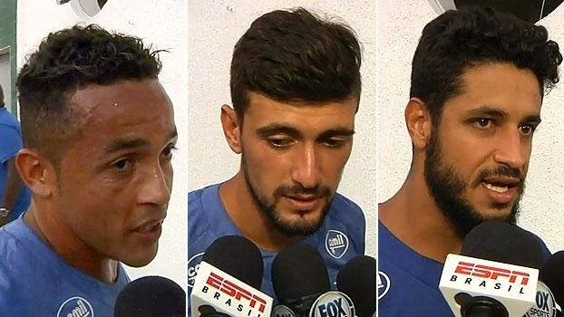 Jogadores do Cruzeiro comemoram vitória e sequência invicta