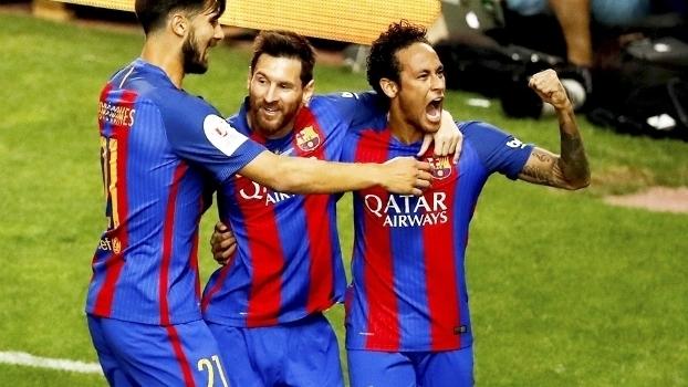 Na final da Copa do Rei 2017, Neymar marcou seu último gol oficial pelo Barcelona