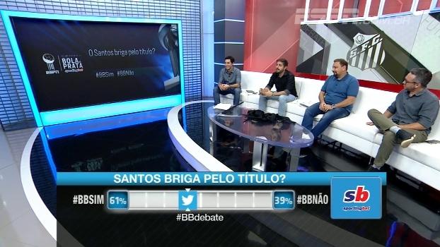 Nicola e Maurício Barros acham que Santos luta pelo título; Alê titubeia