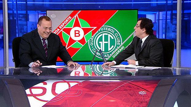 'Me ajuda! Chama os comerciais!'; Amigão se enrola com os gols da Série B, cai na gargalhada e pede socorro a Antero Greco