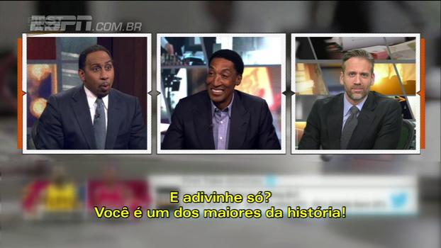 Ex-parceiro de Jordan, Scottie Pippen coloca LeBron como maior da história e comentarista da ESPN se descontrola