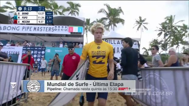 Espera por repescagem e situação dos brasileiros: veja o resumo do Mundial de Surfe em Pipeline