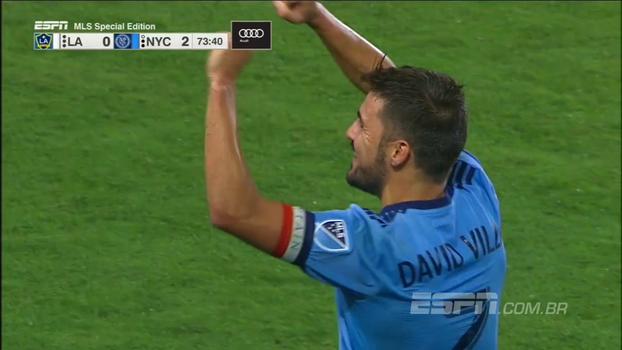 David Villa faz belo gol de fora da área e garante vitória do New York City sobre o LA Galaxy