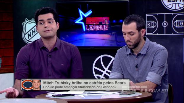 Antony Curti elogia atuação de Mitch Trubisky, mas faz ressalva: 'Não nos empolguemos'