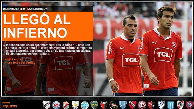 Argentino: Gol de Independiente 0 x 1 San Lorenzo