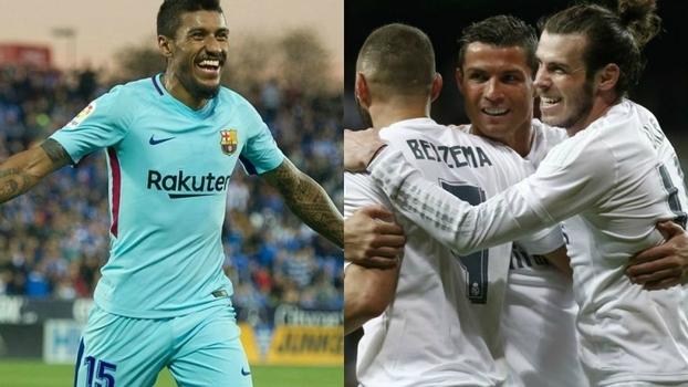 Paulinho x BBC; veja e compare os 4 gols do brasileiro com os 4 do trio na temporada do Espanhol