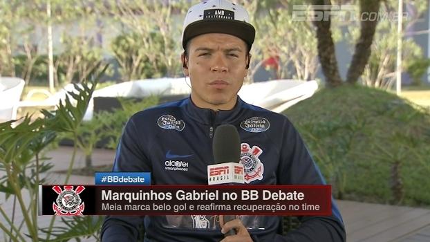 No Bate Bola, Marquinhos Gabriel diz: 'Aqui a cobrança é muito grande para ajudar na marcação; foi uma mudança'