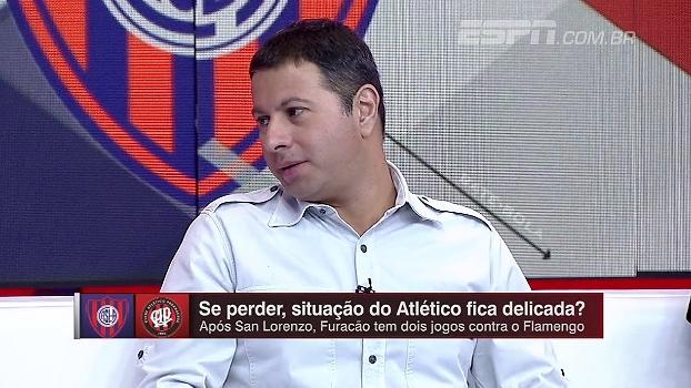 Marra analisa jogo entre San Lorenzo e Atlético-PR: 'Se voltar com empate, ganha moral pra sequência'