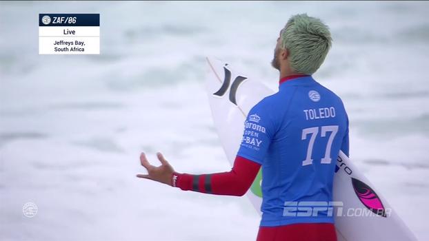 Filipe Toledo vence português e é campeão em Jeffreys Bay; veja o melhor da bateria final