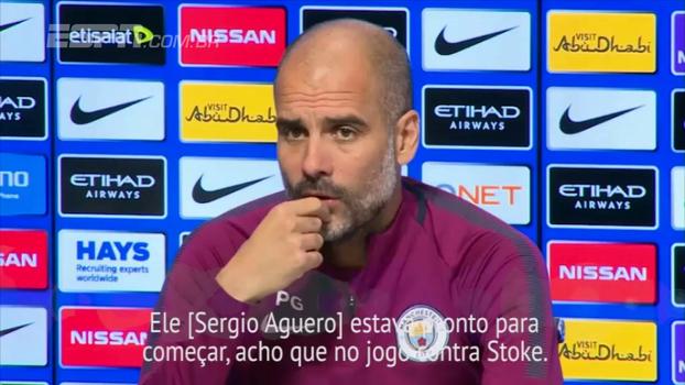 Guardiola diz que Aguero está pronto para voltar a jogar
