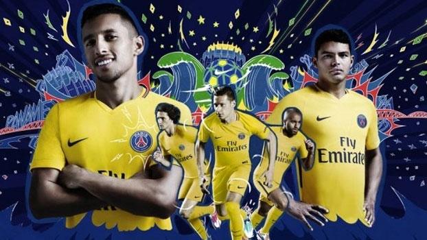 PSG lança camisa amarela em homenagem aos brasileiros; veja o clipe oficial