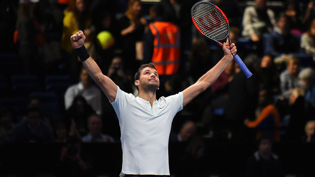 ATP Finals: Lances de Grigor Dimitrov 2 x 1 David Goffin