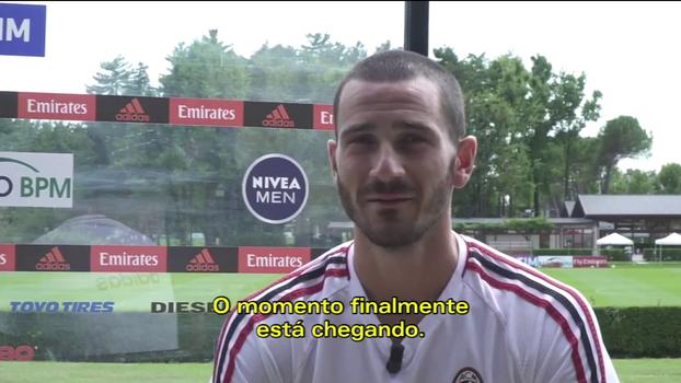 Bonucci se diz ansioso para estrear no San Siro: 'Foi uma das únicas vezes que eu me emocionei entrando em um estádio'