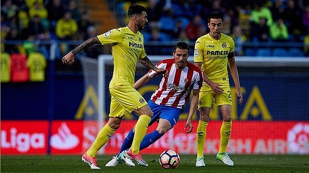 Ex-São Paulo, Douglas marca na derrota do Sporting Gijón para o Villarreal