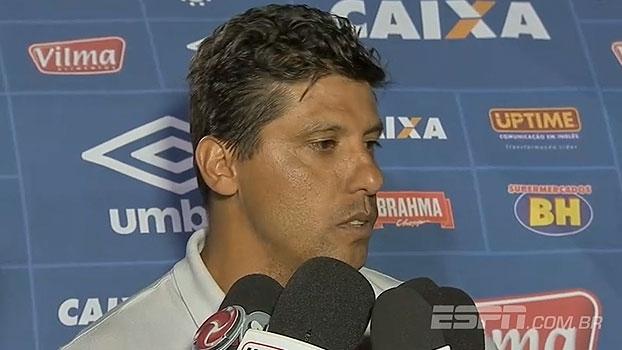 Interino do Cruzeiro lamenta derrota, mas aprova partida: 'O jogo estava controlado'
