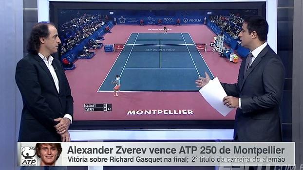 Alexander Zverev vence o ATP 250 de Montpellier; Para Meligeni, garoto tem personalidade forte