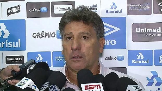 Renato Gaúcho defende programação do Grêmio: 'Não me arrependo de nada'