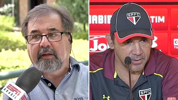Ricardo Gomes diz que Michel Bastos não está focado; São Paulo nega indisciplina
