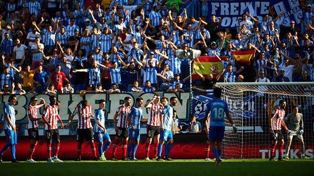 Jogaço! Com lambança da defesa e golaço de Rolán, Málaga busca empate por 3 a 3 diante do Bilbao