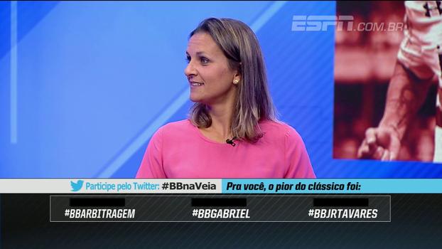 Ju Cabral critica arbitragem por anular gol do São Paulo e elogia 'grande partida' do tricolor
