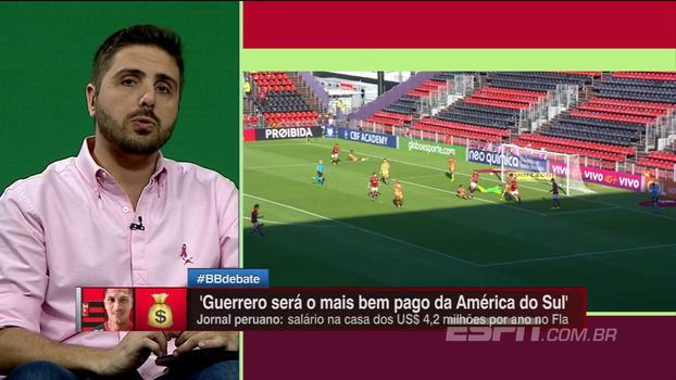 Maior salário da América do Sul? Jornal peruano cita renovação milionária de Guerrero com Flamengo
