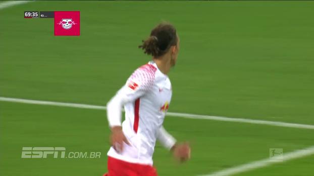 Brasileiro marca, mas Leipzig vira, bate o Hannover e assume vice-liderança provisória da Bundesliga