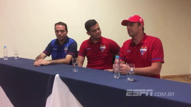Veja as primeiras palavras de Rogério Ceni como treinador do Fortaleza