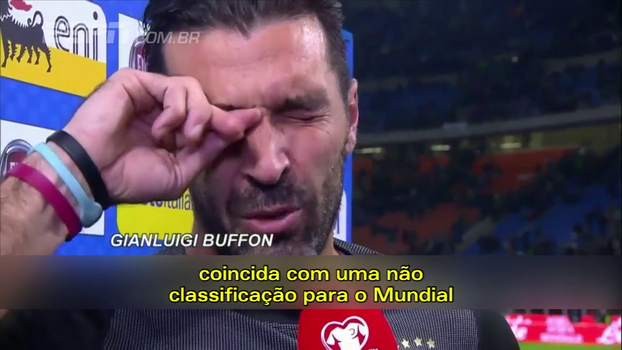 Fora de sua possível última Copa, Buffon vai às lagrimas após o jogo: 'Desculpa por termos falhado'