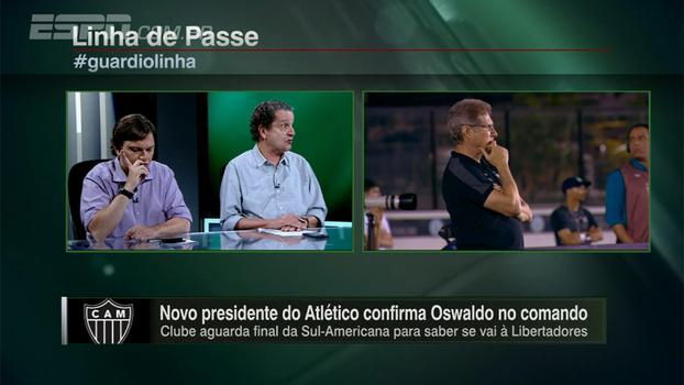 Atlético-MG acerta ao confirmar permanência de Oswaldo de Oliveira? Veja o debate do 'Linha de Passe'