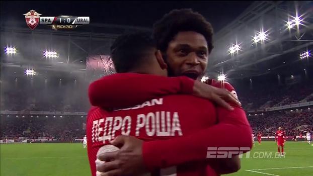 Com passe de  Luiz Adriano, Pedro Rocha faz o 1º gol dele na Rússia em vitória do Spartak