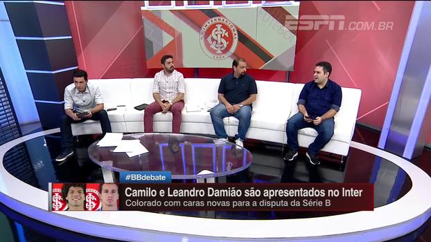 Bertozzi: 'Desde que Damião saiu do Inter, carreira andou para trás'; 'Camilo será importante para o time', diz Alê Oliveira