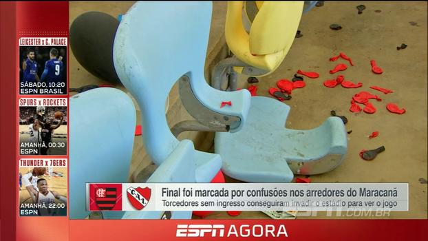 Débora Gares mostra interior 'destruído' do Maracanã e informa que MP deve apresentar denúncia sobre o ocorrido