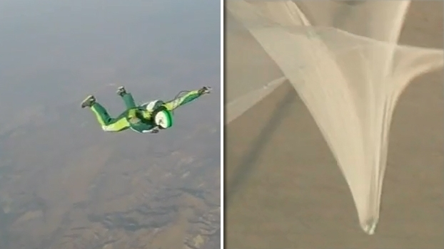Luke Aikins salta de mais 7 mil metros sem paraquedas e usa rede gigante para não morrer