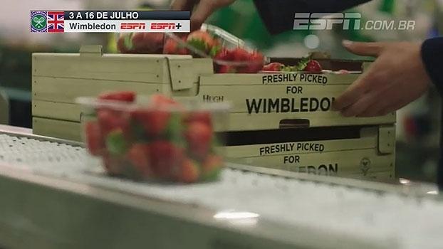 Coisa séria! Veja como são colhidos os tradicionais morangos do torneio de Wimbledon