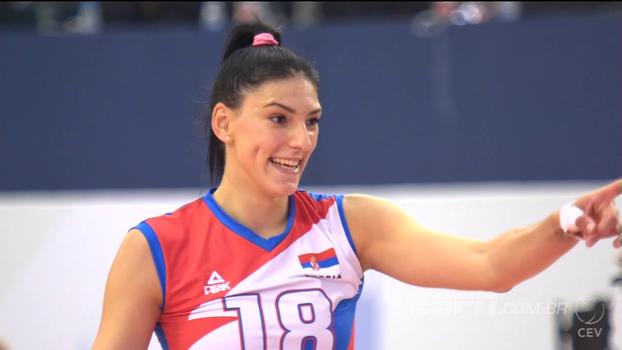 Boskovic brilha, Sérvia bate Holanda e é campeã europeia de vôlei feminino