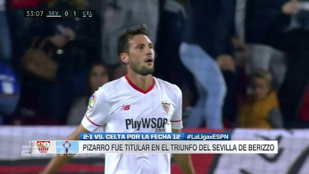 Com gols de Muriel e Nolito, Sevilla vence Celta de virada e toma o 5º lugar do Villarreal