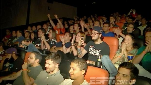 Festa, bar e cinema: como os fãs do esporte, Moisés e Cássio acompanharam o Super Bowl LI