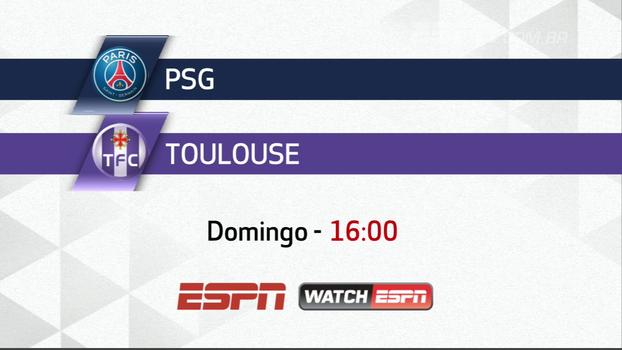 Neste domingo, não perca PSG x Toulouse AO VIVO, às 16h, na ESPN e WatchESPN