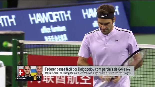 Masters 1000 de Xangai: Lances de Roger Federer 2 x 0 Alexandr Dolgopolov