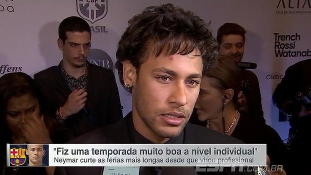 Neymar se diz satisfeito com desempenho individual na temporada