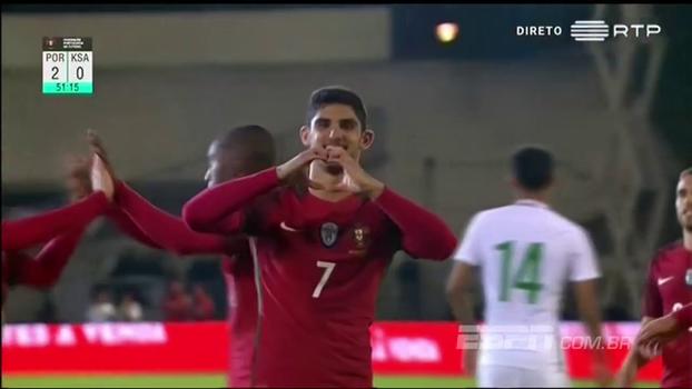 Sem Cristiano Ronaldo, Portugal vence amistoso contra a Arábia Saudita