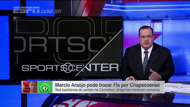 Márcio Araújo pode trocar o Flamengo pela Chapecoense