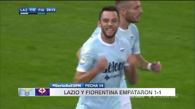 Lazio toma empate da Fiorentina nos acréscimos e perde a 4ª colocação para a Roma