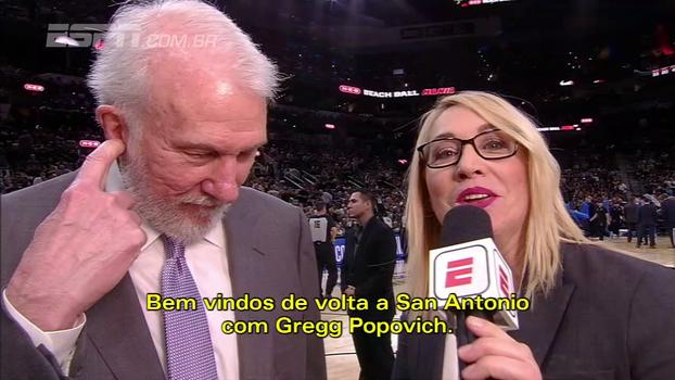 Popovich conta como Spurs viraram sobre Thunder: 'Fomos de coitadinhos de nós para vão se ferrar'