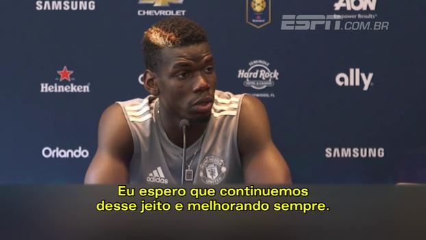Pogba: 'O Manchester United está evoluindo bastante'