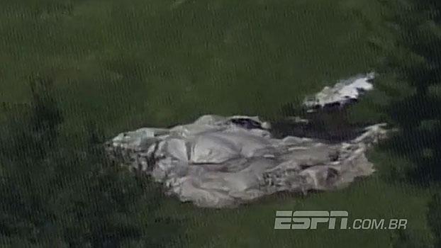 Dirigível cai perto de quadra do US Open; veja as imagens