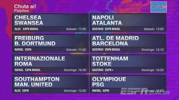 Chuta aí! Futebol no Mundo dá palpite nos jogos do final de semana