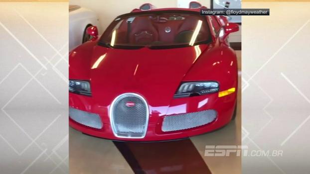 Floyd Mayweather Jr. exibe coleção de carros de luxo